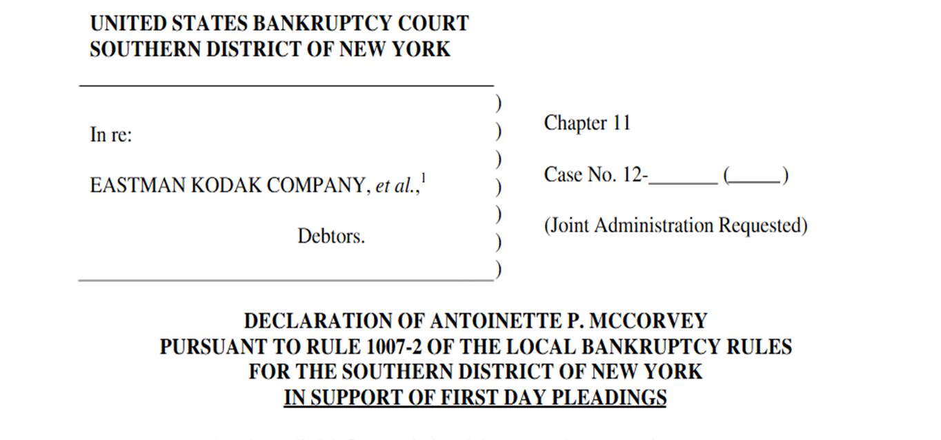 Kodakbankruptcy